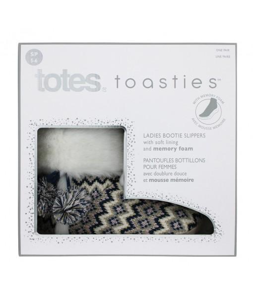 totes toasties™ Fairisle Knitted Booties