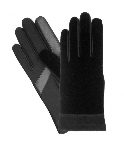 Isotoner Women's SmarTouch Textured Velvet Gloves